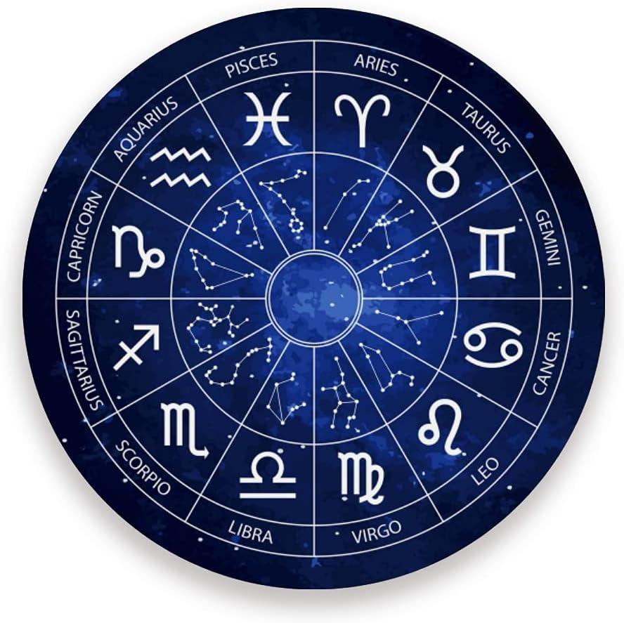 xigua Zodiac Wheel Horoscope shopping Chart Coasters Absorbent ...