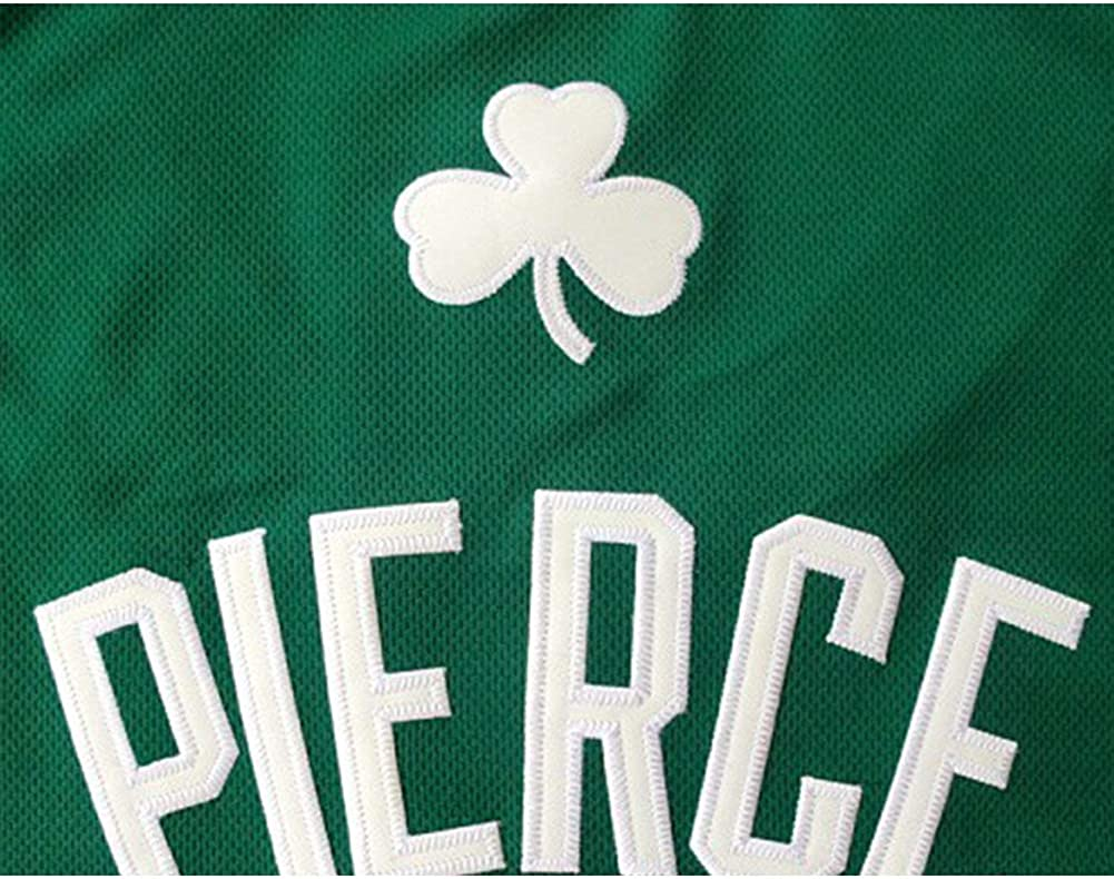 XXS-XXL 34# Paul Pierce Boston Celtics Retro Embroidery Breathable Swingman Jersey Vest Legend Throwback Basketball Jersey 90S Hip Hop Clothing T-Shirt Top for Party