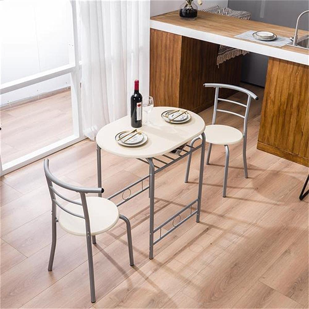 Buy 9 Piece Dining Set Small Dining Table Kitchen Tables for Small ...
