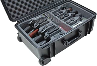 Case Club Waterproof 8 Pistol Case with 2 Silica Gel Canisters to Help Prevent Gun Rust
