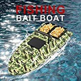 Fishing Bait Boat RC Boat, V007 Remote Control Fish Finder 1.5kg | Loading 500m | 2.4GHz Remote System RC Fixed Speed Double Motors Boat | for Pools and Lakes (Camouflage)