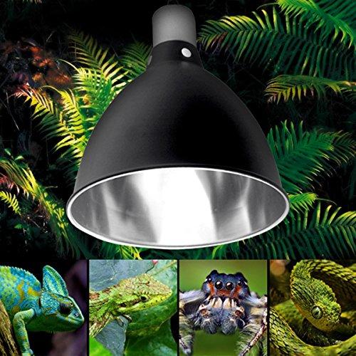 sorliva Lichthouder, Keramische Warmte UV UVB Lamp Lichthouder Reptiel Tortoise Lampenkap met Schakelaar (14x15,5cm)