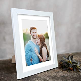 Art Street Art Street Synthetic White Table Photo Frame (6 inches x 8 inches, Matted to 4 x 6 Inches)