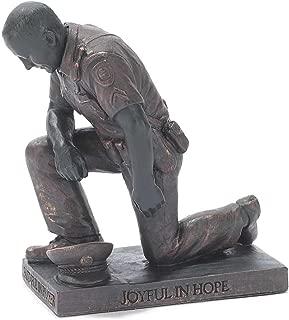 Dicksons Joyful in Hope Praying Police Man 5 inch Gray Resin Stone Table Top Figurine
