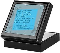CafePress Greys Anatomy Sticky Note Keepsake Box, Finished Hardwood Jewelry Box, Velvet Lined Memento Box