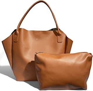 Rachel Large Beautiful Stylish 23 x 15 Vegan Leather Tote Handbag With Additional Pouch …