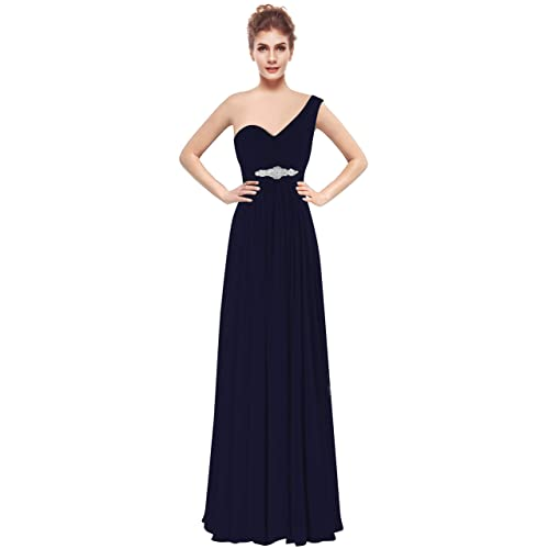 7ed12c8ec7c CaliaDress Women One Shoulder Bridesmaid Dress Prom Evening Gowns Long  C198LF