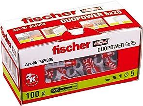 Fischer Duopower 5 x 25 universele pluggen voor het bevestigen van hangkasten, wandrekken in beton, metselwerk, plaatbouwm...