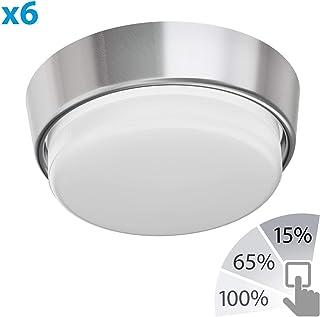2 UDS Negro ledscom.de Lámpara de Pared Tabit Angular Aluminio para el Exterior INKL 2X GX53 4W LED Bombilla Blanca cálida