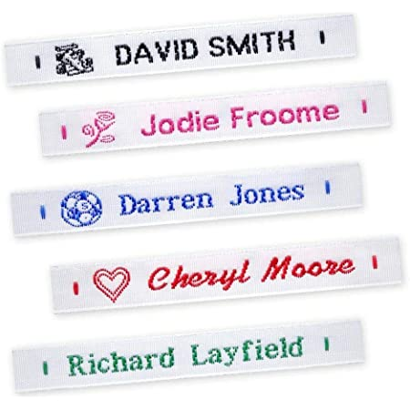 Stick On /& Shoe Waterproof School Name Labels Tapes Tags Details about  /Multibuy Iron On