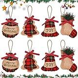 JPYH 8 PCS Decorazioni per Albero di Natale, Ornamento d'attaccatura per Decorazioni di Al...