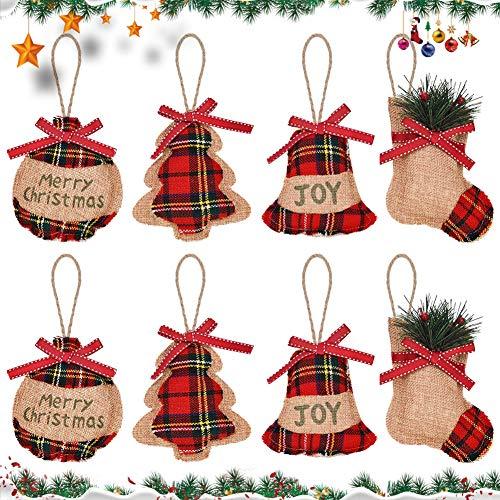 JPYH 8 PCS Decorazioni per Albero di Natale, Ornamento d'attaccatura per Decorazioni di Albero di Natale per Decorazione Natalizia Regalo di Compleanno di Natale per i Bambini