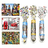 Small Jigsaw Puzzles for Adults Mini Puzzles Challenging Difficult Puzzles London Time Square Book House 150 Pieces Tiny Puzzles Home Decor Entertainment 6 x 4 Inches, 3 Pack