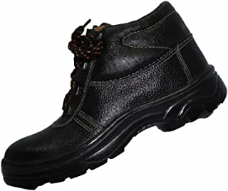 Aktion Safety Genuine Leather Shoes SA-212 - Size 5, Black