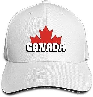 ONE-HEARTHR Adult Canada Cotton Lightweight Adjustable Peaked Baseball Cap Sandwich Hat Men Women