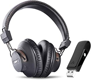 Avantree DG59 Plug & Play Wireless PS4 Gaming Headphones with Bluetooth USB Audio Transmitter Set for PC Desktop Computer, Chat & Music Simultaneously, No Delay, 40hrs Play Time