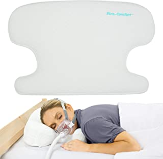 Xtra-Comfort Firm CPAP Pillow - Foam Side Sleeper - Full Face Mask Nasal Cushion for VPAP, BiPAP, APAP Pressure & Leaks - Ergonomic Back, Stomach, Head & Neck Orthopedic Sleeping Pad - Washable Case