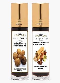 Menjewell Kasturi Musk, Darbar-E-Khaas Attar, 9 Ml (Pack Of 2), 50 g