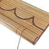 YJDQ Persianas de Bambú, Cortina de Partición de la Perspectiva de la Ventana, Decoración de Muebles de Interior para la Sombra Del Sol para la Oficina de la Casa de la Cocina,W × H,50 × 120 cm