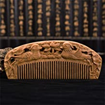 Comb Hair Care Anti Static Wooden Hair Massage Natural Wood Hair Care (PATTERN : Mandarin duck)
