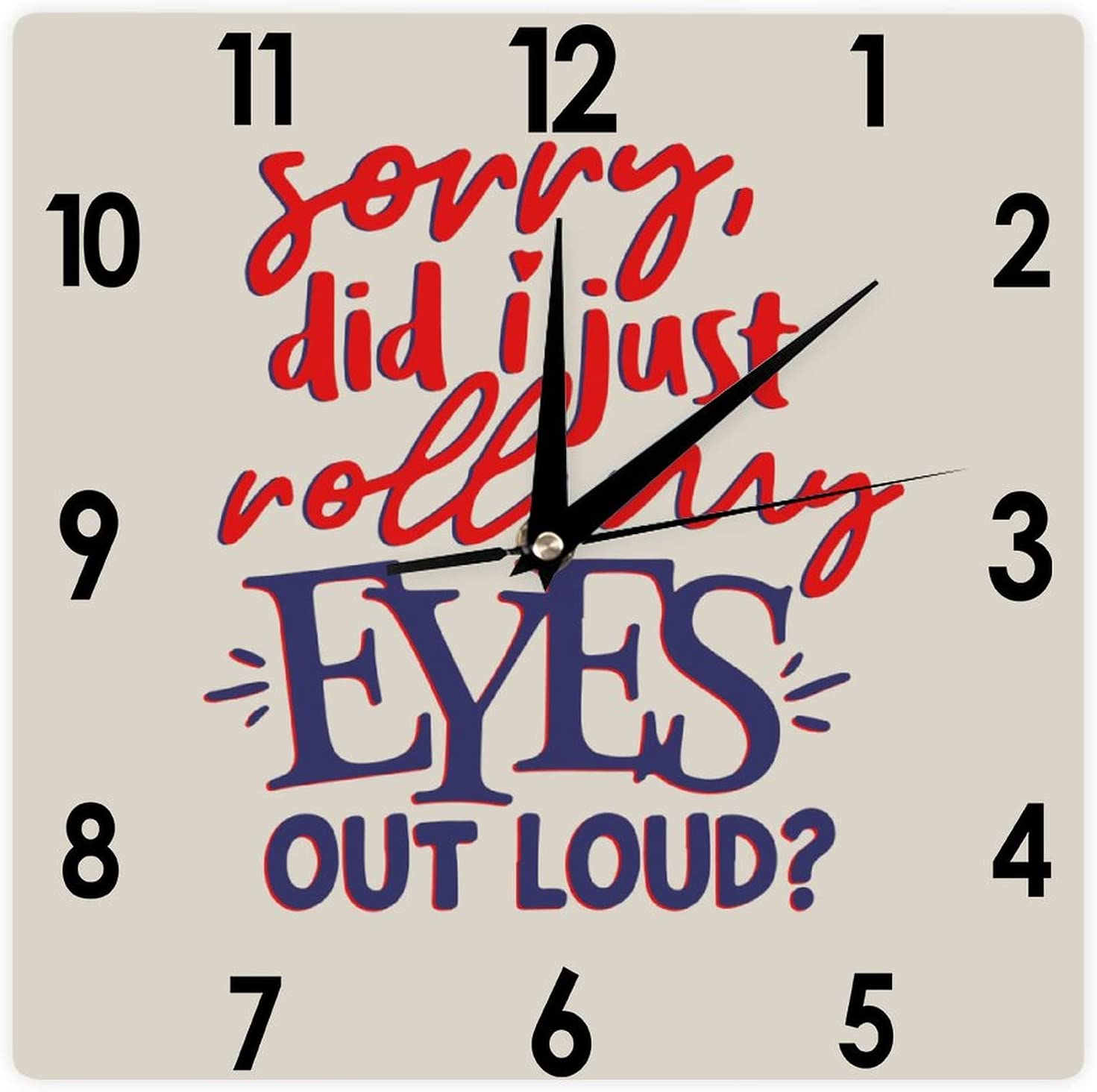 VinMea Square PVC Free Shipping New Walk Clock Did Seattle Mall I Out My Just Si Loud Roll Eyes