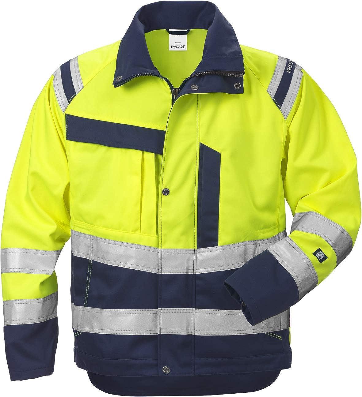 Fristads Kansas Workwear 119623 High Vis Work Jacket Hi-Vis Yellow/Navy S