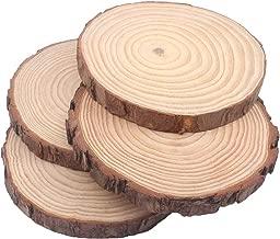 MaiTaiTai Natural Wood Slices 8 Pcs 5-6 Inches Diameter x 3/5
