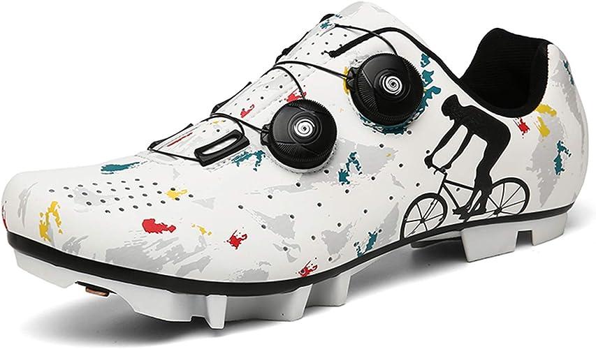 Chaussure VTT Homme Femme Chaussures de Cyclisme Mountain Bike Shoes Chaussure Velo Route Chaussures de Vélo de Sport de Plein Air Respirantes