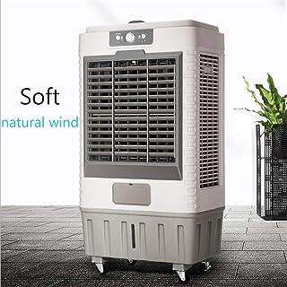 Móvil Climatizador Evaporativo Portátil Por evaporación del refrigerador de aire, aire acondicionado móvil, cortina de agua de refrigeración del ventilador, 3 en 1 Velocidades 8 horas Temporizador 3 f