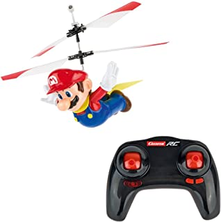 Carrera RC - Officially Licensed Flying Cape Super Mario 2.4GHz 2-Channel Rechargeable Remote Control Helicopter Drone Toy with Easy to Fly Gyro System