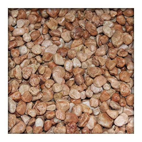 5 kg Marmor-Dekosteine 7/25 mm Marmorkies Dekokies PU-Harz ummantelt Verona Rot