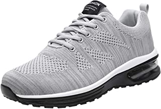 Goddessvan Couple Flying Woven Mesh Shoes Lace-Up Air Cushion Student Sports Running Shoes