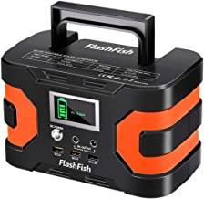 200W Peak Solar Generator, Flashfish 45000mAh Portable Power Station 150W Rated Power CPAP Backup Battery Pack with 110V AC/DC 12V/QC USB Port for Outdoors Camping Travel Fishing Hunting Emergency
