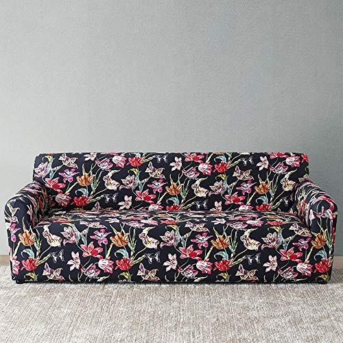 WXQY Funda de sofá Europea con Todo Incluido Fundas de sofá con Estampado Floral para Sala de Estar Sofá Toalla Funda de Muebles Sillón Funda de sofá A15 4 plazas