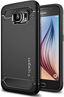 Spigen Rugged Armor Galaxy S6 Case with Resilient Shock Absorption and Carbon Fiber..