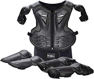 Takuey Kids Motorcycle Motorbike Full Body Armor Protective Gear Equipment Chest Spine Back Protector Shoulder Arm Elbow Knee Protector Pads for Motocross Racing Skiing ICE Skating Bike Cycling