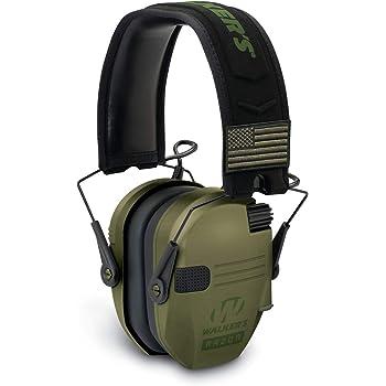 NRR 23dB Walker/'s Razor Slim Patriot Electronic Earmuffs