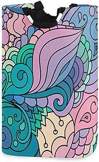 ZOMOY Grand Organiser Paniers pour Vêtements Stockage,Textile Pattern Waves Curles Coloré,Panier à Linge en Tissu,Imperméa...