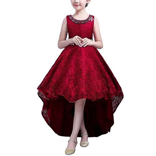 HUAANIUE Vestido de noche para niños Disfraces Vestido de novia