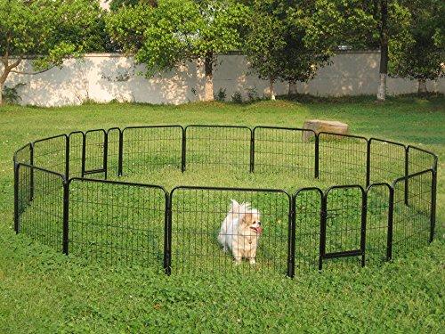 Pet Dog Cat Metal Exercise Barrier Fence