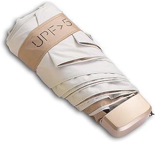NW 1776 Sun Protection Portable Folding Umbrella, Mini UV Outdoor Golf Umbrella (Off-White)