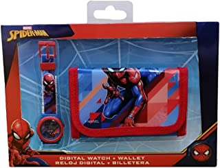 Montre Enfant Quartz Digitale Spiderman Spider-man Marvel Comics Plus Portefeuille