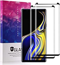 [2 Pack] Galaxy Note 9 Screen Protector Glass, ZAOX [Full Screen Coverage] [Easy Installation] [Bubble Free] 3D Curved Black Film Tempered Glass Screen Protector for Samsung Galaxy Note 9 (2018)
