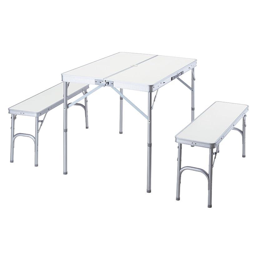 アクセスぬるいベックスBUNDOK(バンドック) テーブル & ベンチ セット BD-230 【3~4人用】