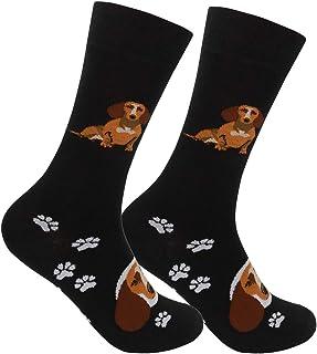 FUNATIC, Dachshund Wiener Dog Crew Socks - Calcetines para los amantes de los perros y cachorros