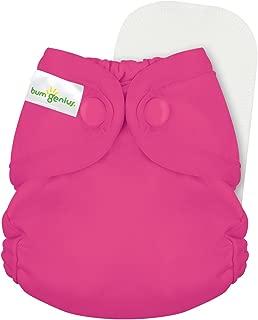 bumGenius Littles 2.0 Newborn Cloth Diaper 100% Cotton Inner - Fits Newborns Up to 12 Pounds (Countess)