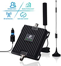 Cell Phone Signal Booster for Car, Truck and RV - Verizon AT&T 4G LTE Signal Booster Dual 700MHz Band 12/13/17 Repeater Amplifier Kit Enhance Cellular Voice Over 4G & Data Signal in Vehicle