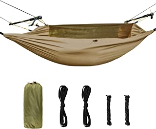 FREE SOLDIER Waterproof Camping Hammock with Mosquito Net Lightweight Tarp Hammock for Backpacking Traveling Tent Tactical Parachute Hammock