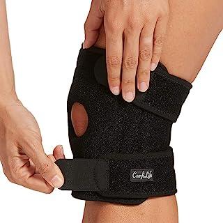 زانو بند ComfiLife برای تسکین درد زانو - مهاربند زانو Neoprene برای تمرین ، دویدن ، بهبود آسیب - تثبیت کننده های جانبی - فشرده سازی قابل تنظیم با 3 نقطه - پشتیبانی از کشکک باز ، ضد لغزش (متوسط)