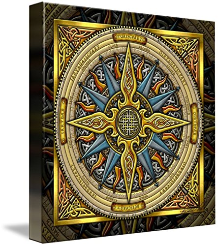 Wall Art Print entitled Celtic Compass by Kristen Fox